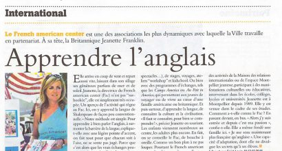 Presse - Au French American Center, on y apprendre l'anglais de façcon peu conventionnelle