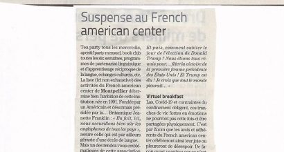 Presse - Suspense au French American Center