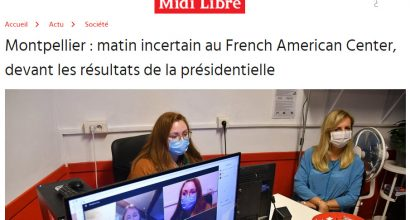 Montpellier : matin incertain au French American Center, devant les résultats de la présidentielle
