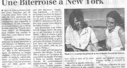 Presse - Une Biterroise à New York
