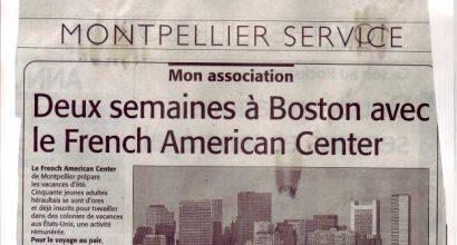 Presse - Deux semaines à Boston - Séjour Linguistique aux USA