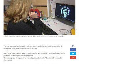 Presse - Le French American Center de Montpellier fête ses 25 ans avec Woody Allen