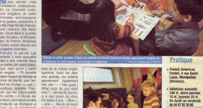 Presse - A Montpellier, le French-American Center est le pays des kids