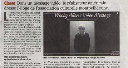 Presse - Woody Allen - Fan du French American Center de Montpellier