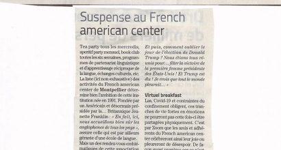 Presse - Suspense au French American Center