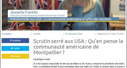 Scrutin serré aux USA : Qu'en pense la communauté américaine de Montpellier?